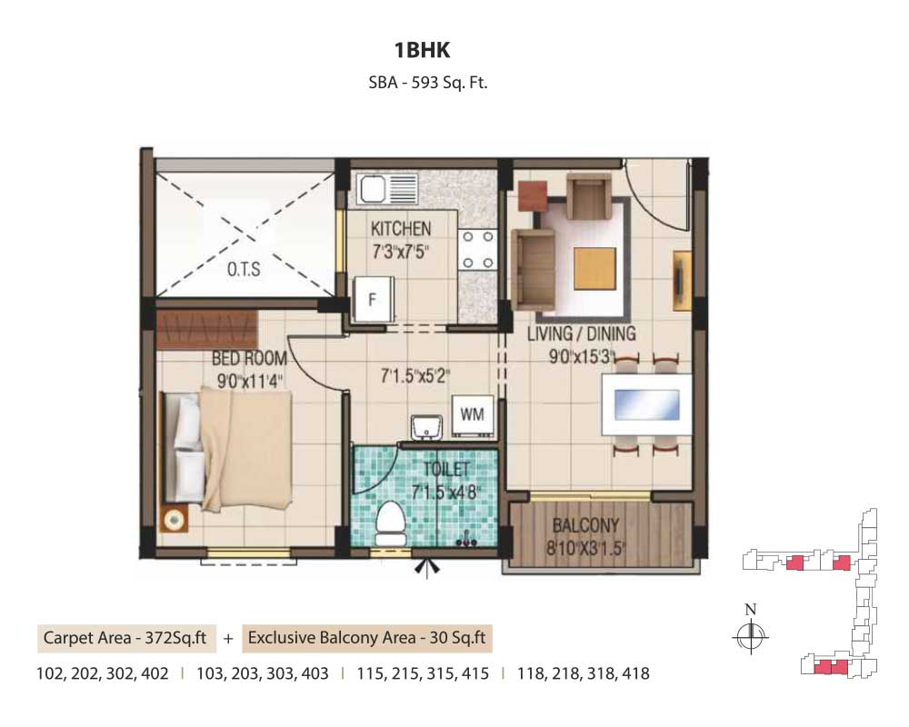 Residential apartments in omr for sale flats near for 1 bhk apartment design